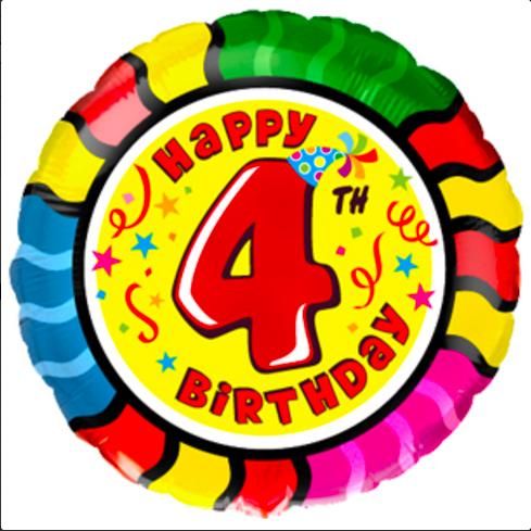 4 gimtadienio balionas