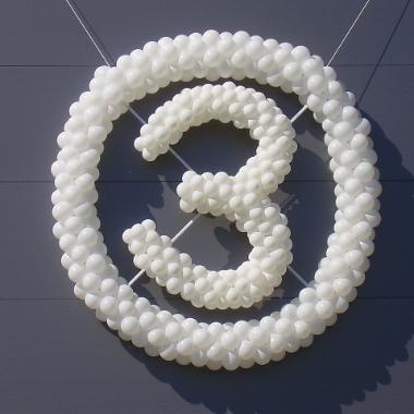 ę dekoracija iš balionu